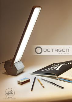 Faceted rolled desk LED lamp Octagon-1 on Behance