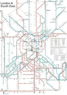 Worksheet. London  South East network train rail map  SubwayMetro Maps