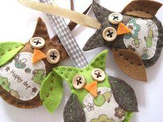 hibou décoration de noel automne von Crotte de bique auf DaWanda.com