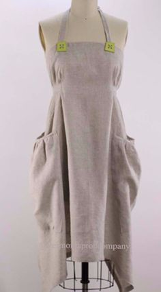 Hippy Apron in Oatmeal Linen- Regular Size- by The Vermont Apron Company