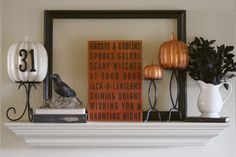 getting into the decorating mood for Halloween!