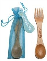U-Konserve: Bamboo Eating Utensil. Compact and durable and practical, U-Konserve's bamboo spork eating utensil. Kids Lunch For School, School Days, Thing 1, Bento Box, Cool Toys, Safe Food, Spoon, At Least, Mesh