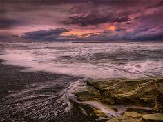 Winter sea, west coast, New Zealand