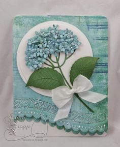 Simply gorgeous card using IO's Hydrangea Die ~ lovely! This versatile die is available at www.stampassion.com ~ card by Impression Obsession DT member, Jenny Groop!