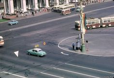 Manezhnaya Square and Old Moscow Hotel, Moscow, 1963