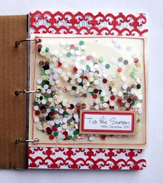 December Daily - confetti! Like the edging in color - this would be a great use for extra smaller divided pprotectors.
