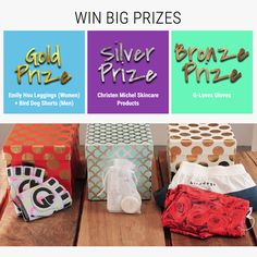 Want these prizes? His & Her fitness gloves, active lifestyle skincare, and His & Her fitness fashion = the bronze, silver and gold prizes. Go to BooyaFitness.com to sign up. We're picking 3 winners for each prize so you have a GREAT CHANCE TO WIN! @BooyaFitness