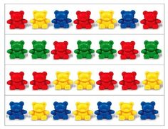 Teddy Bear Patterning Strips -- love this!