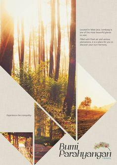 Bumi Parahyangan Promotional Poster and Brochure by Rittsu , via Behance by salm… Bumi Parahyangan Werbeplakat und Broschüre von Rittsu, via Behance von salma. Layout Design, Design De Configuration, Flugblatt Design, Buch Design, Creative Design, Web Layout, Image Layout, Design Elements, Logo Design