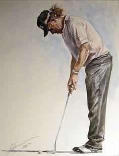 Mark Robinson - Selected Golf Portraits 2009 - 2012 by Mark Robinson, via Behance. Que buen cuadro de nuestro Malagueńo