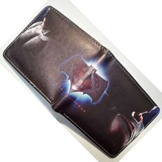 Batman vs Superman Wallets for Young Boy Girl Gift Purse PU Leather Money Bags Two Folder Wallet