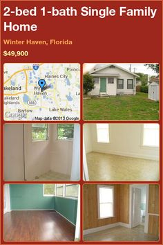 2-bed 1-bath Single Family Home in Winter Haven, Florida ►$49,900 #PropertyForSale #RealEstate #Florida http://florida-magic.com/properties/10034-single-family-home-for-sale-in-winter-haven-florida-with-2-bedroom-1-bathroom