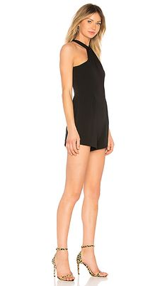 b02e05716d1 Shop for Amanda Uprichard Cherri Romper in Black at REVOLVE.