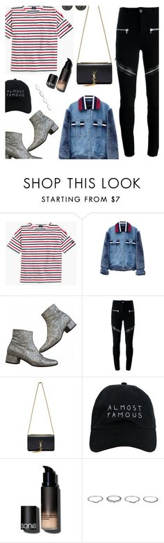 """""""Senza titolo #1960"""" by aanyaa ❤ liked on Polyvore featuring Saint James, Jamie Wei Huang, Yves Saint Laurent, Givenchy, Nasaseasons, Sonia Kashuk, New Look, Ray-Ban and NYFW"""