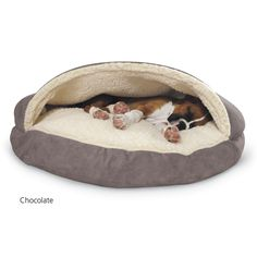 Cotton Cozy Cave Dog Bed - Dog Beds, Gates, Crates, Collars, Toys, Dog Clothing & Gifts