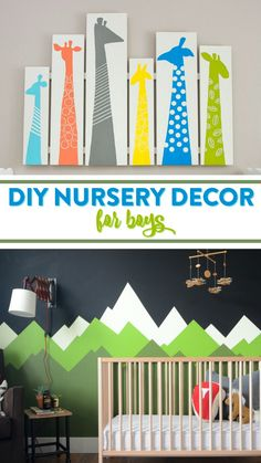 Lucky for you we've rounded up a ton of great DIY Nursery Decor For Boys that you're sure to love. Not only does creating your own nursery decor save you money, but you also get to rest easy knowing your baby has one-of-a-kind decor that you made for him, how cool is that?