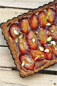 "Plum Tart with Walnut Frangipane - a great recipe from this wonderful blog, ""Passionate about Baking""."