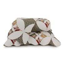 colcha casal rozac patchwork - branco