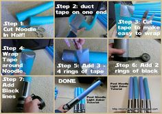 Star Wars Party .... Pool Noodle Light Saber Tutorial