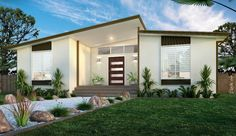 Manufactured homes are built and joined entirely within a factory Tropical House Design, Tropical Houses, Shed Homes, Kit Homes, Home Design, Huge Master Bedroom, Hawaii Homes, House Built, Mobile Homes