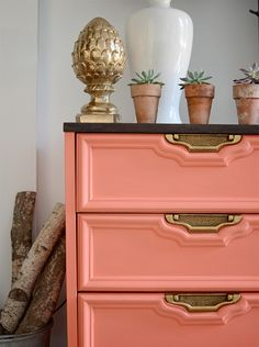 Furniture Makeovers You Need to Pin Now 15 Furniture Makeovers You Need to Pin Now via Brit + Co. Love the coral color, Behr's Cool Furniture Makeovers You Need to Pin Now via Brit + Co. Love the coral color, Behr's Cool Lava. Paint Furniture, Furniture Projects, Furniture Makeover, Diy Projects, Coral Furniture, Moving Furniture, Luxury Furniture, Office Furniture, Bedroom Furniture