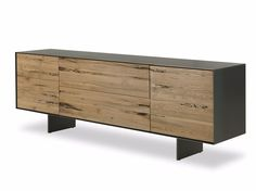 RIALTO FLY Briccola wood sideboard by Riva 1920 design Giuliano Cappelletti Dining Furniture, Wooden Furniture, Cool Furniture, Furniture Design, Commode Design, Drawer Design, Mid Century Sideboard, Muebles Living, Wood Sideboard