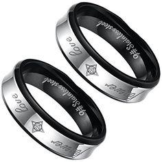 """Aroncent 2 PCS Herren Männer Ringe, """"Forever Love"""" Edelst... https://www.amazon.de/dp/B01EWW1PFK/ref=cm_sw_r_pi_dp_mmpvxb6J062XD"""