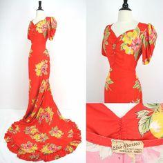 Hawaiian Wear, Vintage Hawaiian, Hawaiian Print, Hawaiian Dresses, Hawaiian Outfits, Hawaiian Muumuu, 1940s Fashion, Vintage Fashion, Vintage Glam