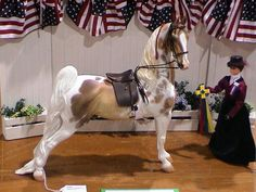 Saddle Seat - Nice face and good height between the model horse and doll