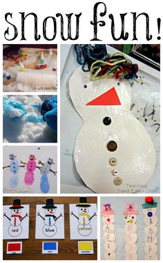 15 Winter and Snow Themed Activities for the Kiddos - featured at Share It Saturday on www.fun-a-day.com