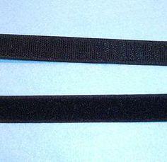 Black Sew In Black Velcro 20mm Per Metre
