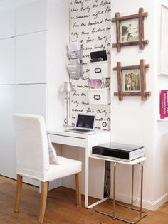 Compact home office Home Office, Office Desk, Craft Station, Nordic Home, Office Organization, Little Houses, Corner Desk, Sweet Home, Interior Design