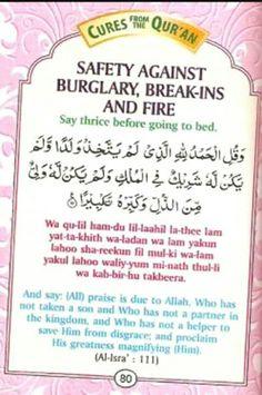 Dua For Safety Against Burglary, Breakins and Fire ❤ Doa Islam, Islam Hadith, Islam Muslim, Islam Quran, Forgiveness Islam, Muslim Women, Alhamdulillah, Prayer Verses, Quran Verses
