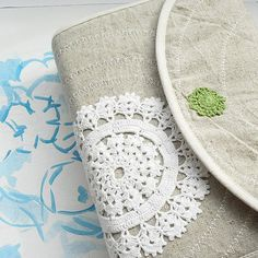Bible cover Journal Cover with white crochet lace by BibleandLace, $46.00