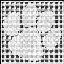 paw print crochet afghan pattern