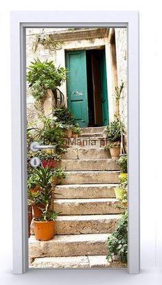 Naklejka na drzwi ND265 - Szmaragdowe drzwi