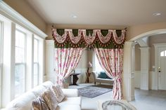 This luxury tab top classic swag valance curtain set is flexible in adjusting width to fit the windows. A great fit for wide windows, bay windows or irregular-shapped windows, the curtain set combines frivolous extravagance and modern simplicity. Intricate and elegant, this delicate fabric reminds of a botanic garden book.  Enjoy the premium quality of custom-made curtain with the convenience and affordability of pre-designed styles.
