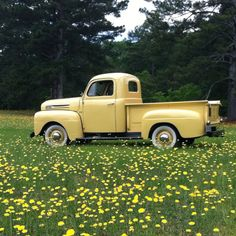 1948 Ford F1. I love these old trucks. So simple and pure  round and smooth and heavy metal ...