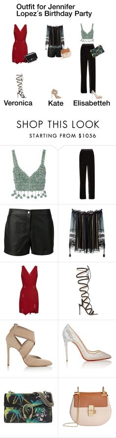 """Outfit for Jennifer Lopez´s Party"" by ghappyg on Polyvore featuring Rosie Assoulin, Fendi, Vera Wang, Chloé, Thierry Mugler, Gianvito Rossi, Lanvin, Christian Louboutin, Gucci and Givenchy"