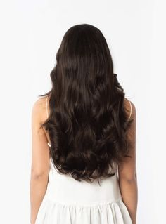 """Instantly transform your hair with Seamless Dark Brown clip-in Luxy Hair extensions and feel more confident with thicker, longer hair than you've ever had before! Dark Brown is an elegant and rich shade, which will blend with most mid-tone brown hair colors. Excerpt Length: 20"""" inches video Seamless Overview Learn More About The Seamless Collection Watch The Video https://vimeo.com/222711887 faq - what-makes-seamless-clip-in-extensions-different-from-regular-extensions…"""