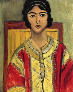 Matisse, Lorette with a Red Dress, 1917