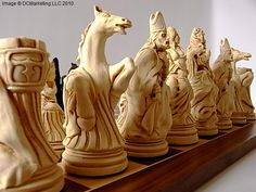 Ivory Carved Chess Set