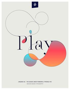 Play. Made with the new Lingerie Xo - The Sexiest, Most Powerful Typeface Yet. By Moshik Nadav Typography. Available on: www.moshik.net #lingeriexo #xo #typography #type #newfont #newtypeface #fonts #font #typeface #fashion #fashiontypography #fashionmagazine #logo #logotype #moshik #moshiknadav #ligatures #ligature #typografie #swashes #graphicdesign #branding #packaginga