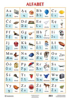 Reading Skills, Writing Skills, Polish Alphabet, Learn Polish, Educational Websites For Kids, Teacher Morale, Das Abc, Alphabet Tracing Worksheets, Polish Language