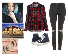 """""""Sem título #97"""" by keilasantos ❤ liked on Polyvore featuring Baldwin, Topshop and Converse"""