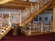 Image result for wood branch railings