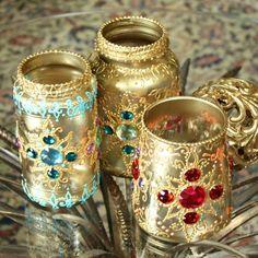 Bejeweled Jar Lanterns by Mark Montano | Project | Home Decor / Decorative | Holiday | Kollabora
