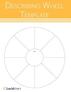 Describing wheel templates are excellent education tools for group activities. The wheel is used to about a main topic such as a of a story, event, or person and visualize related information. Find a printable worksheet on Lucidchart. Education Templates, Visual Learning, Group Activities, Brainstorm, Printable Worksheets, Student, Chart, Tools, Instruments