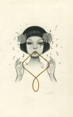 Sasha Ira, Paintings & Illustrations. Gloriously...  http://sashaira.tumblr.com/