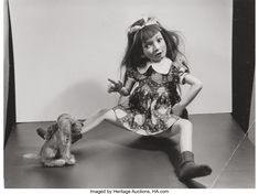 Girl with her dog,gelatin silver print 1960 photo by Morton Bartlett, Art Brut, 3 Boys, Gelatin Silver Print, Old Dolls, Girl And Dog, He Is Able, Portrait, Girl Dolls, Home Art